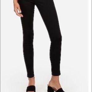 Express High Waisted Denim Black Ankle Skinny 0